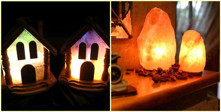 оригинальные соляные светильники