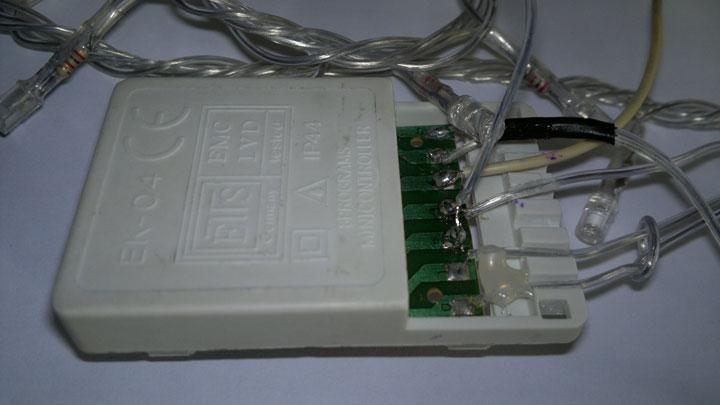 коробочка контроллера для новогодней гирлянды
