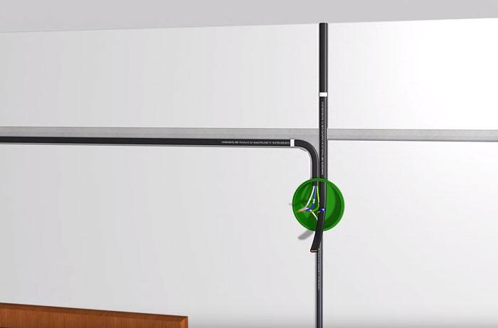 монтаж третьего кабеля на светильник при подключении диммера