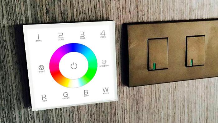 контроллер RGB для установки в подрозетники