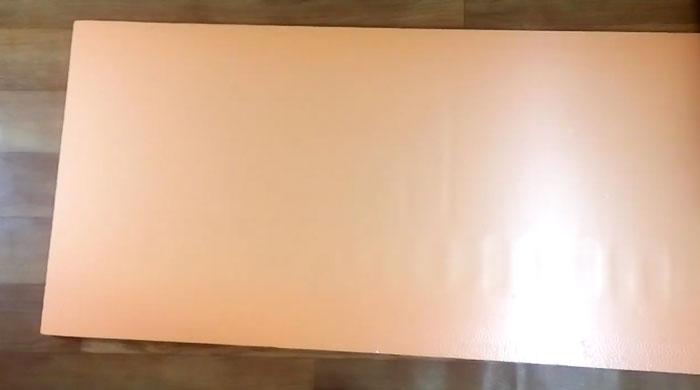 лист пенополистирола для изготовления самодельного софтбокса