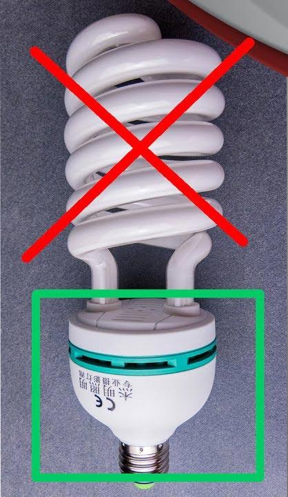негодная энергосберегающая лампочка вторая жизнь