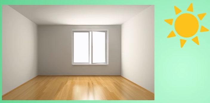 комната с хорошим освещением