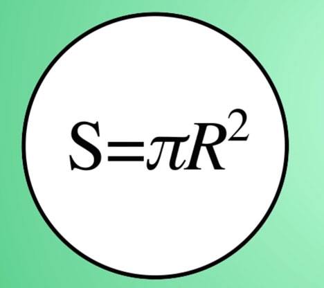 расчет площади засветки фитоламп круга