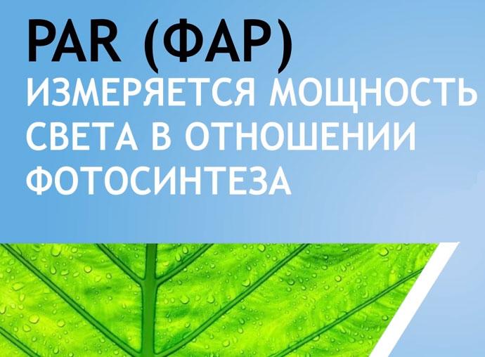 что такое ФАР для растений и лампочек