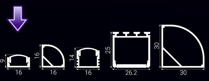 разновидности алюминиевого профиля для светодиодной ленты