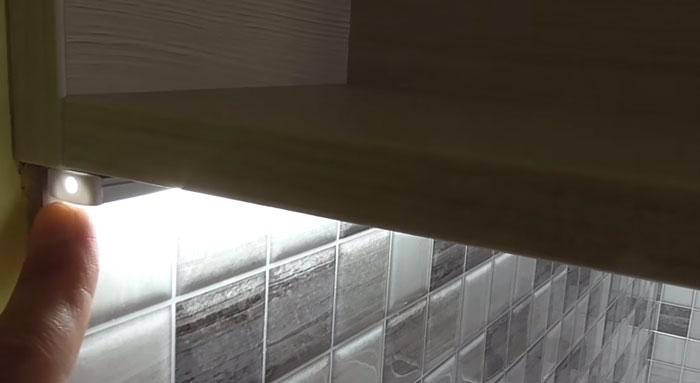 заглушка для профиля светодиодной ленты на кухне