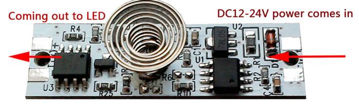 схема подключения диммера для светодиодной ленты с пружинкой