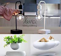 левитирующие предметы наших дней лампочка и цветочный горшок
