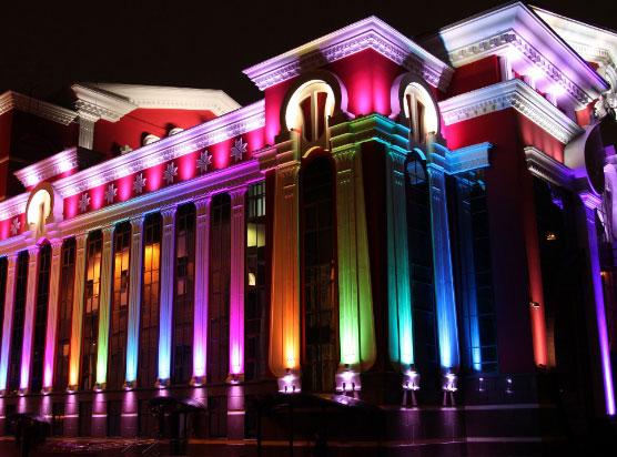 динамическая подсветка фасада