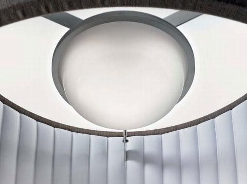 лампочка в центре светильника silenzio