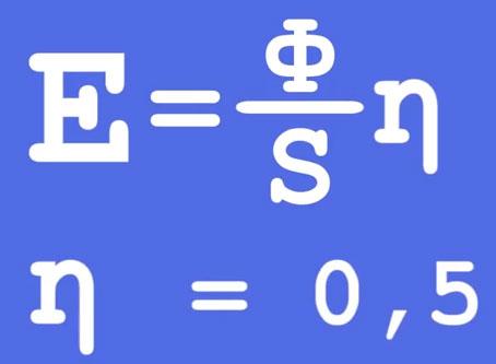 формула расчета освещенности рабочего места