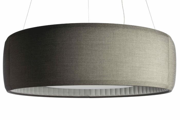 круглый подвесной звукопоглощающий светильник