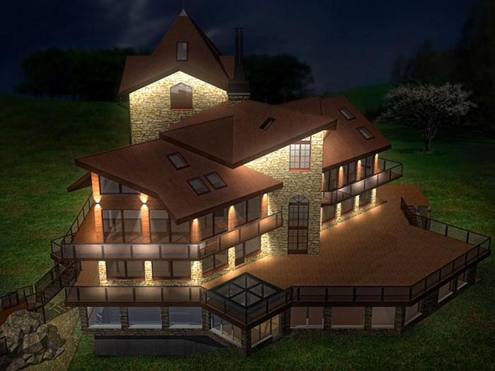 подсветка фасадов зданий8