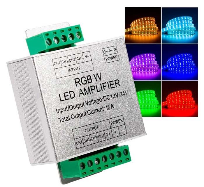 разъемы на RGB усилителе для подключения проводов