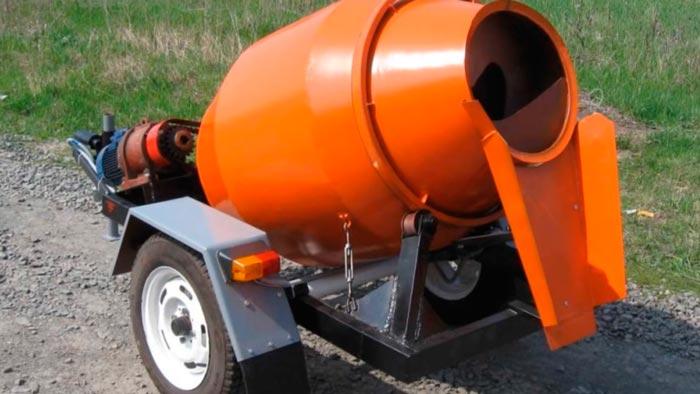 бетономешалка на колесах