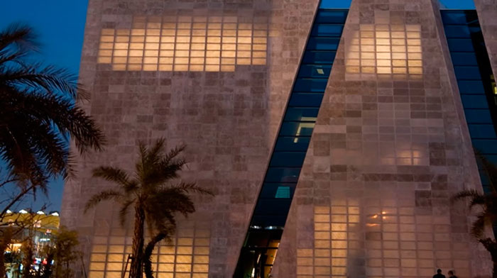 здания из прозрачного бетона