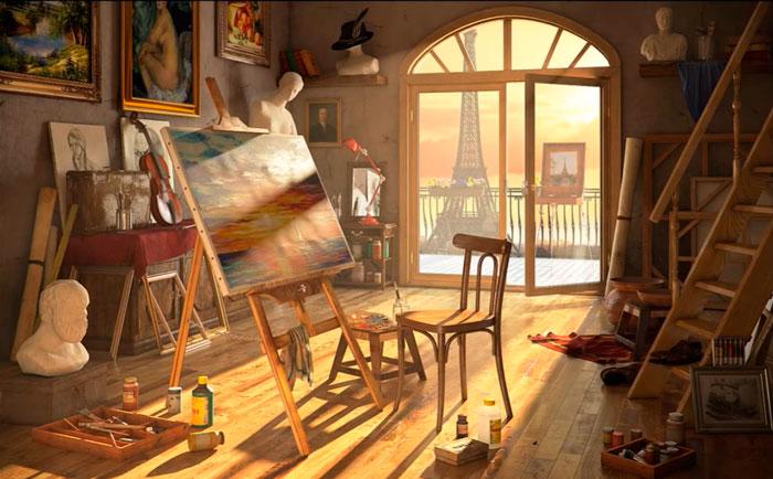 выбор освещения для художника