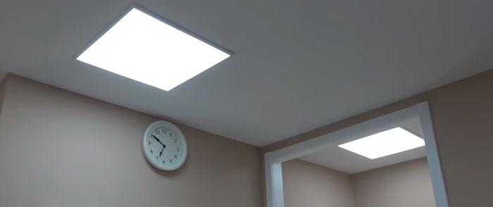 led панели на потолке