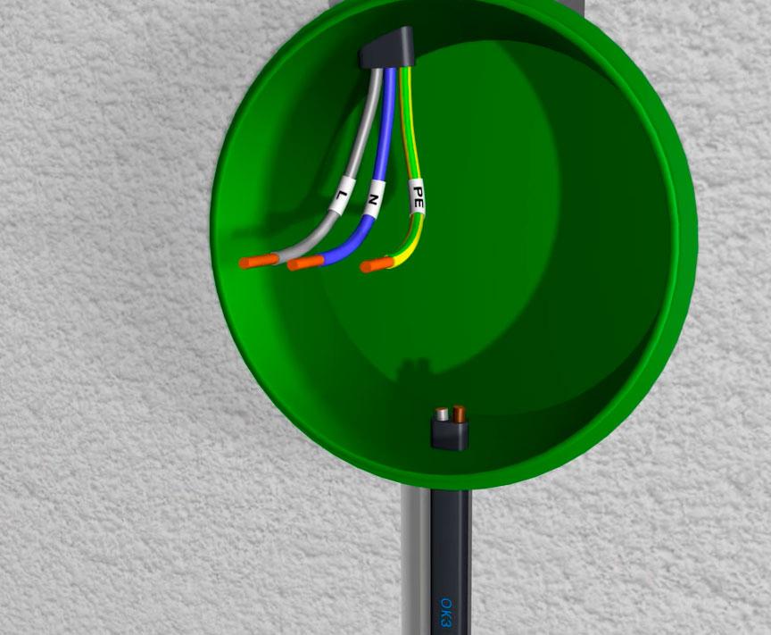 двух или трехжильный кабель к выключателю