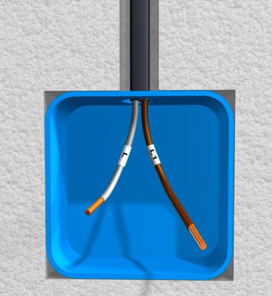 кабель двухжильный для одноклавишника