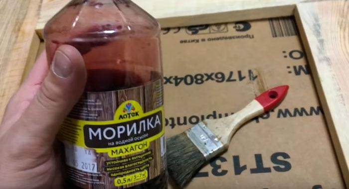 морилка для деревянной рамы гримерного зеркала