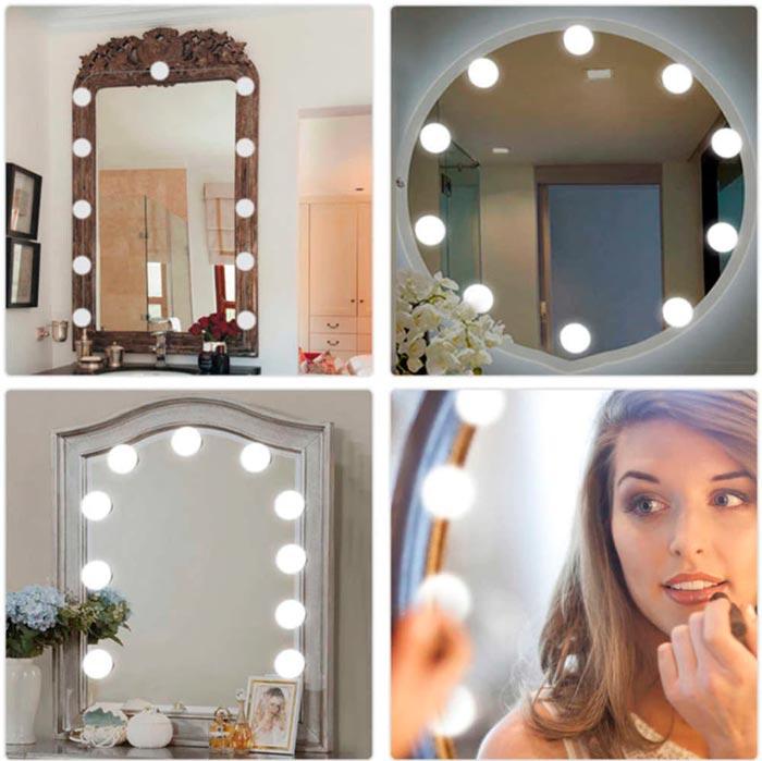 расположение лампочек буквой П на гримерном зеркале нужен ли четвертый ряд