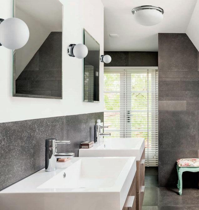 накладной светильник на потолок в ванной комнате