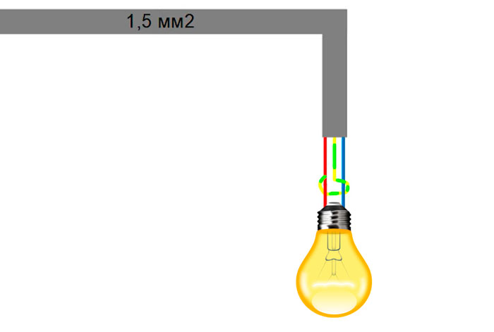 зачем нужен третий заземляющий провод при подключении лампочки