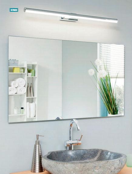 установка лампы над зеркалом в ванной