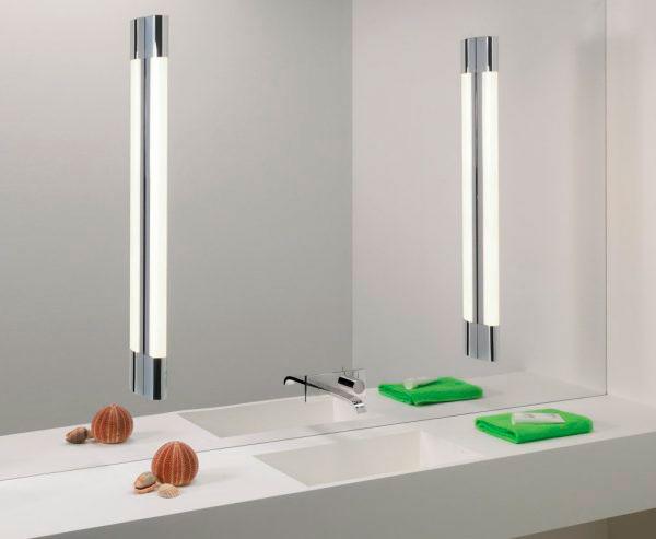 боковая засветка зеркала в ванной