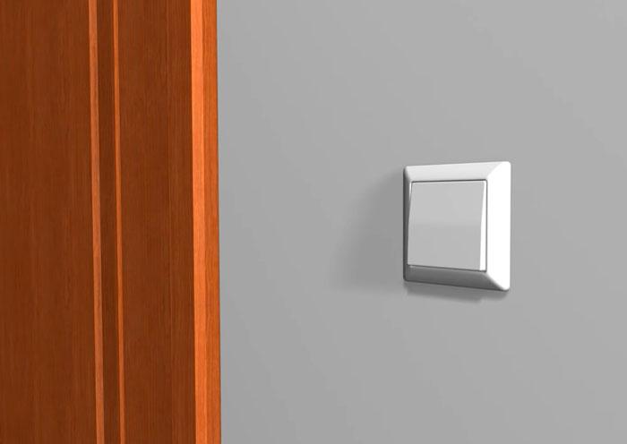монтаж одноклавишного выключателя света