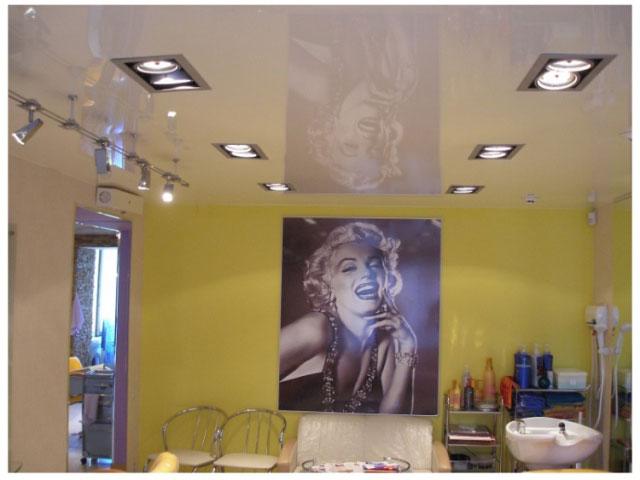 квадратные светильники в натяжной потолок