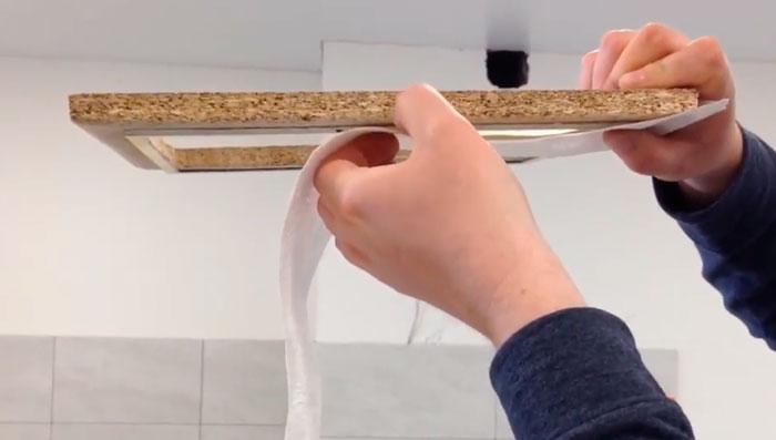 рамка для создания зазора между потолком и закладной