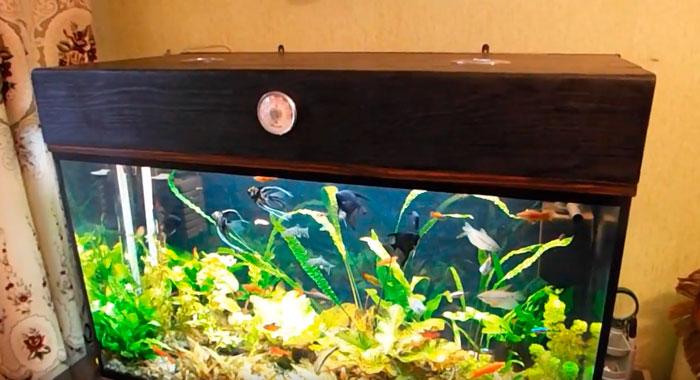 как сделать крышку аквариума своими руками