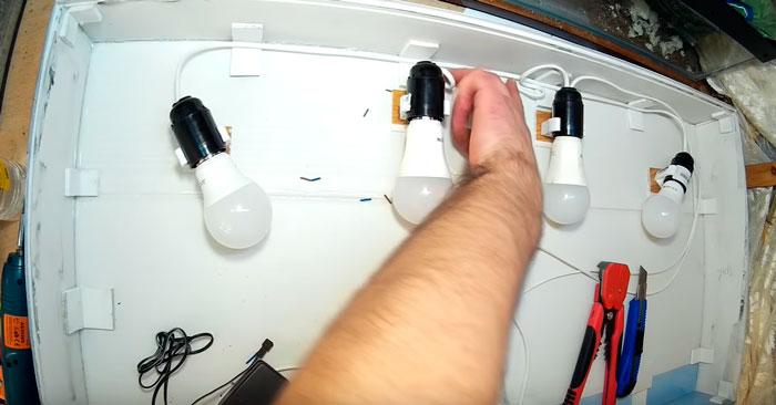 лампочки крепление на крышке аквариума