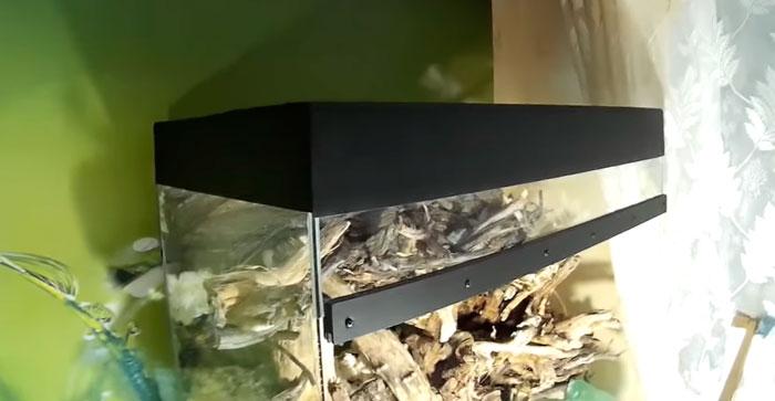 покрашенная крышка аквариума