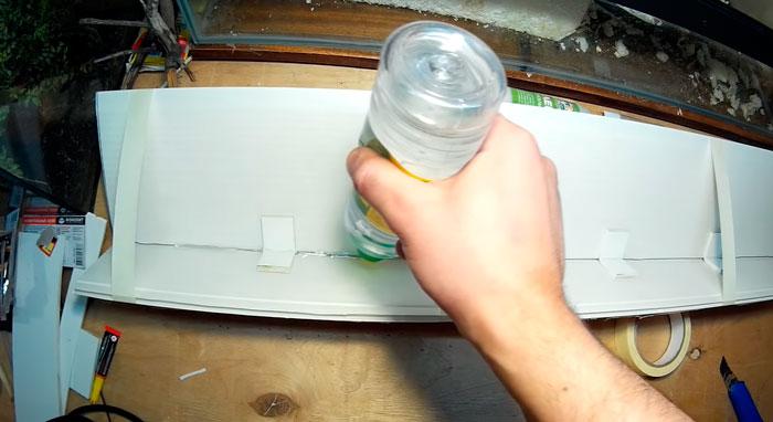 заливка космофеном прорези на крышке аквариума