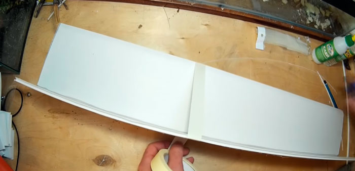 изготовление передней стороны крышки аквариума