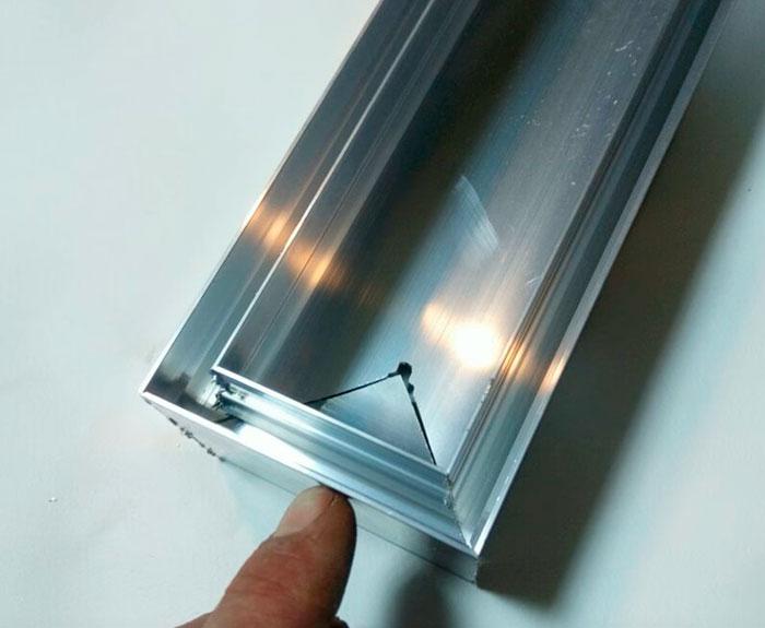 изготовление заглушки светового профиля под гарпун