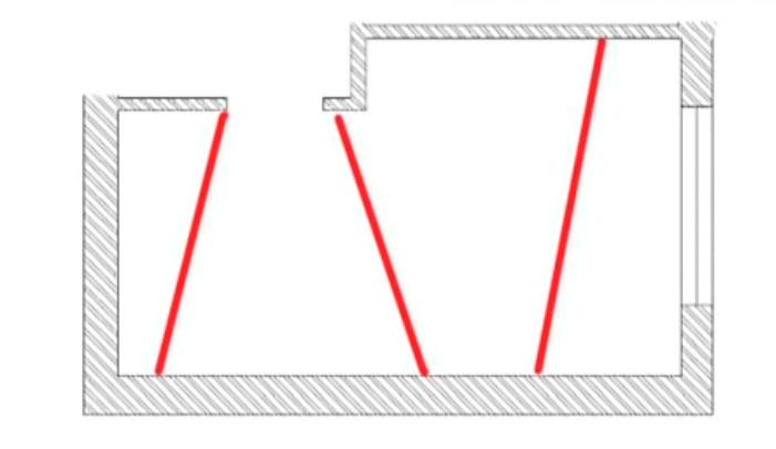 световые линии разделяющие потолок на секторы