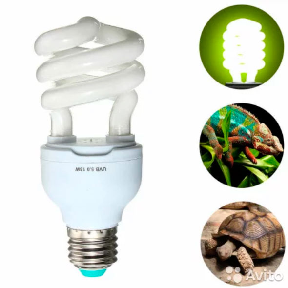 уф лампа для черепахи под цоколь Е27