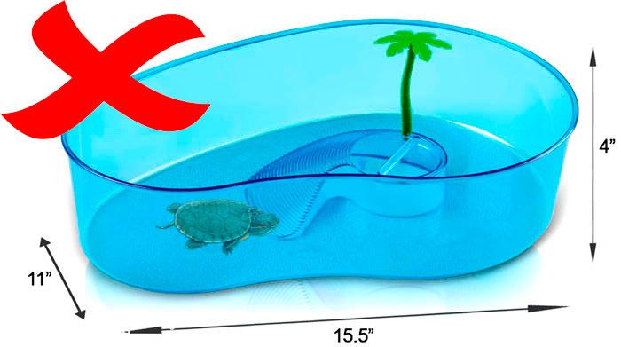 почему маленький аквариум нельзя для красноухой черепахи