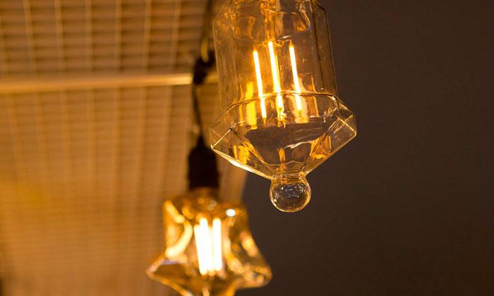 филаментная лампа необычной формы