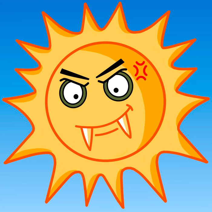 солнышко вред для организма