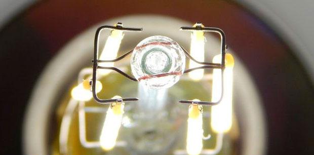 у филаментных лампочек по центру темное пятно