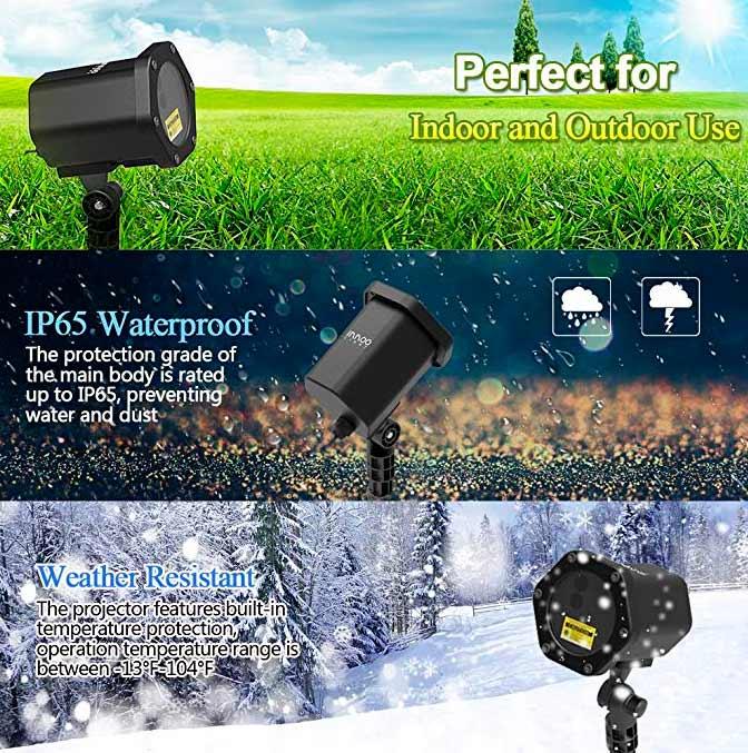 влагозащищенный лазерный новогодний проектор IP65