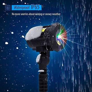 блеклая картинка от новогоднего проектора для дома