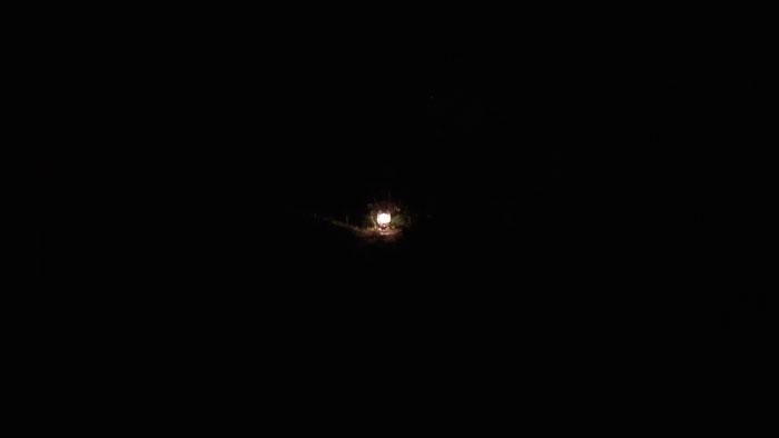 свечение керосиновой лампы