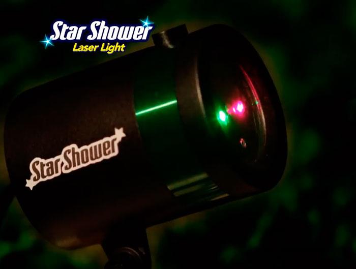 двухцветный лазерный проектор для подсветки фасада